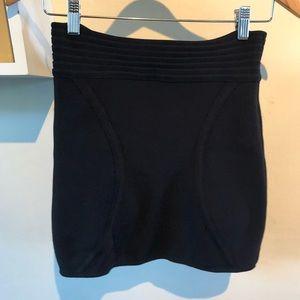 Silence + Noise Black Stretchy Mini Skirt